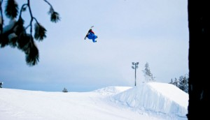 Pim Stigter Snowboarding Fotoshoot in Ruka, Finland - personal branding