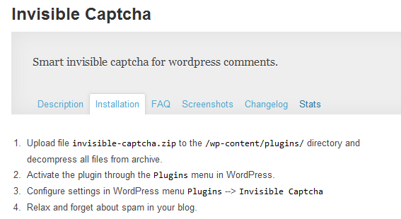 WordPress-Invisible-Captcha